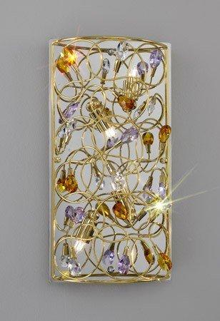 ARABESQUE:Wandleuchte,Made in Italy, STRASS Swarovski Kristall,24 Karat Gold Veredelung