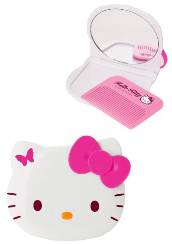 Hello Kitty Mirror And Comb Set: Butterfly front-872510