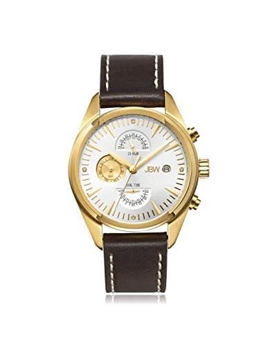 JBW Men's J6300D The Woodall Analog Display Swiss Quartz Brown Watch