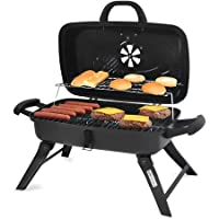 Backyard Grill 278-sq in Portable Charcoal Grill, Black by Blue Rhino Global Sourcing