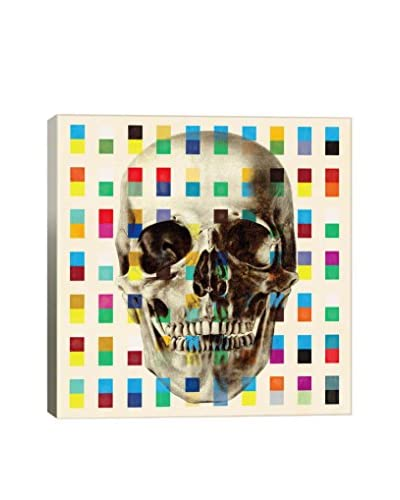 Fabrizio White Skull Cubes Gallery Wrapped Canvas Print
