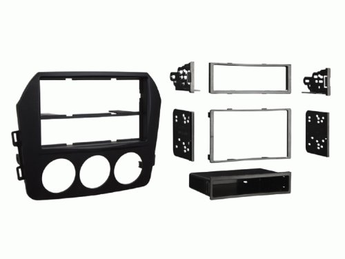 Metra 99-7519B Mazda Miata Installation Dash Kit for Single DIN or Double DIN/ISO Radios, Black