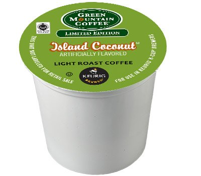 24 Count - Green Mountain Island Coconut K-Cup Coffee For Keurig Brewers