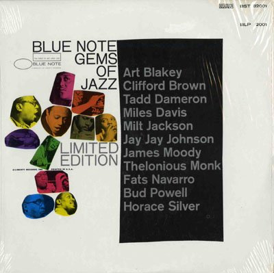 Blue Note Gems of Jazz Limited Edition by Miles Davis Sextet, Bud Powell Trio, James Moody and his Modernists, Jay Jay Johnson Sextet and Milt Jackson Quintet