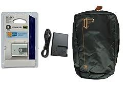 NP-BK1 K BATTERY + BC-CSK CHARGER FOR DCS-W180 W190 S750 S780 S950 + FREE BAG