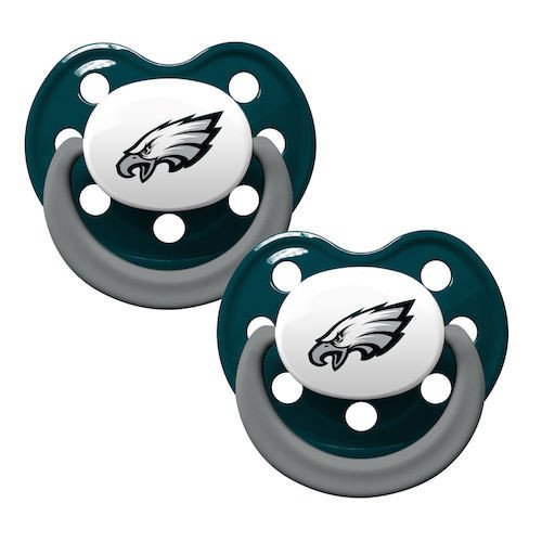 Nfl Philadelphia Eagles Football Baby Pacifiers - Set Of 2 front-952639