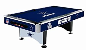 Dallas Cowboys Team Logo 8 Foot Pool Table WITH Logo Felt by Imperial