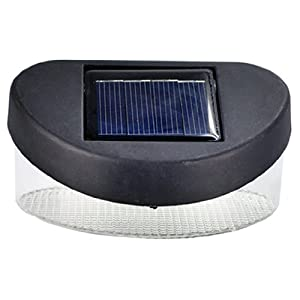 Amazon.com: 2 LED Outdoor Garden Path Wall Solar Powered Fence ...