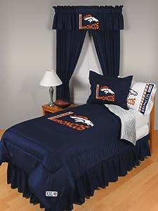 NFL Denver Broncos Locker Room Bed Comforter by Sports Coverage