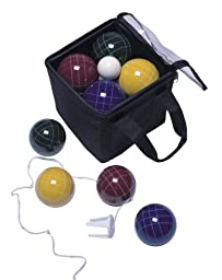 Park & Sun 100mm Bocce Ball Tournament Set with Carry Bag