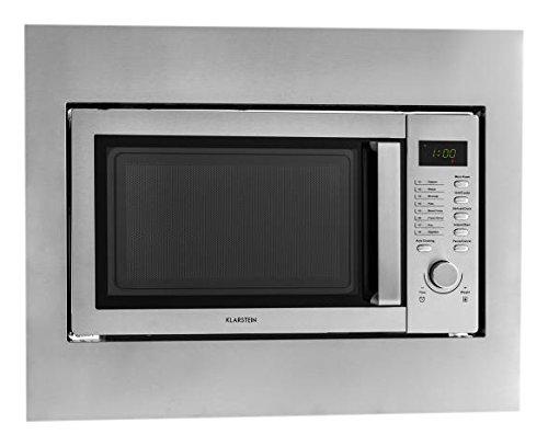 Klarstein-Steelwave-2in1-Kombi-Mikrowelle-mit-Grillfunktion-Einbau-Mikrowelle-800-Watt-1000W-Grill-23-Liter-Garraum-Einbaurahmen