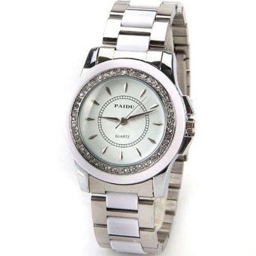 Женские карманные часы White Round Dial Paidu Women Endless Love New Silver Steel Watchband 58928 Exquisite Workmanship Watch