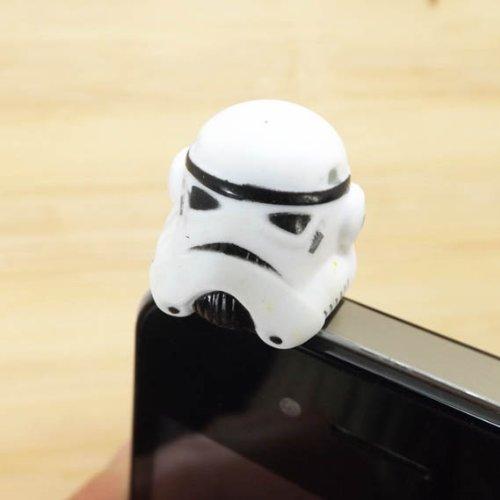 Zoeast Star Wars Clone Robot White Warrior Stormtrooper Dust Plug 3.5Mm Phone Accessory Cell Phone Plug Iphone Dust Plug Samsung Plug Phone Charm Headphone Jack Earphone Cap Ear Cap Dust Plug