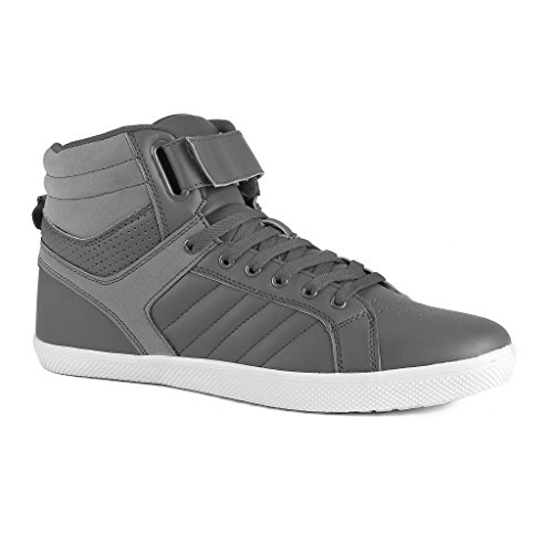 Influence Men's Rick High-Top Fashion Sneakers, Grey, Size 11