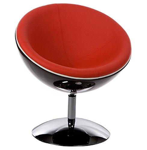 Poltrona CUP, design, colore: nero e rosso