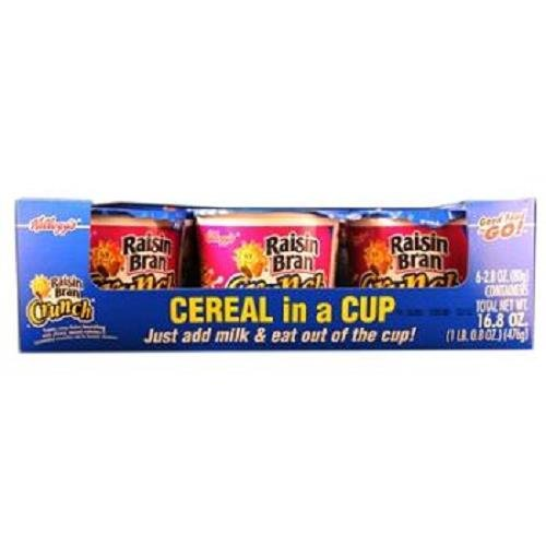 KELLOGGS CEREAL IN CUP RAISIN BRAN CRUNCH 2.8 oz Each ( 6 in a Pack )