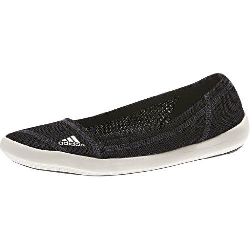 Adidas Outdoor Boat Slip-On Sleek Boat Shoe - Women'S Black/Chalk/Dark Shale 8