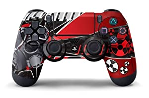 PS4 Controller Designer Skin for Sony PlayStation 4 DualShock Wireless Controller - Toxcity Red