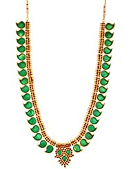 Preethi Gold Plated Charm Necklace For Women (Preethi_75)