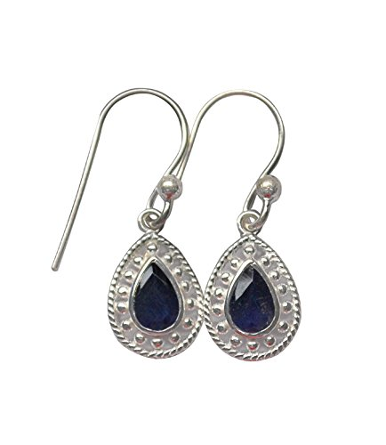 Crystal Craft Navy SterlingSilver Dangle  Drop iolite Earring For Women