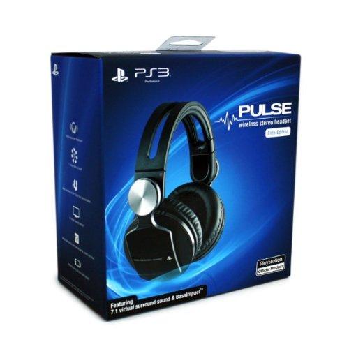 playstation 3 sony pulse   gold wireless headset
