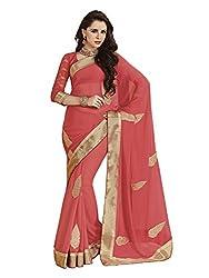 Subhash Sarees Daily Wear Peach Color Chiffon Saree Sari Sarees