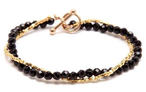 Serretta Black Agate and Gold Vermeil Bracelet
