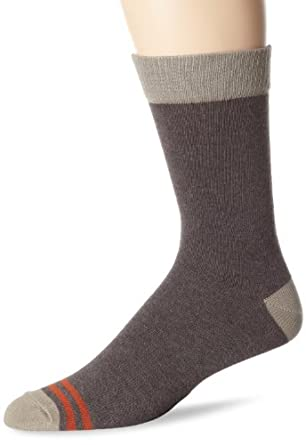 PACT Men's Recycled Brown Crew Sock, Recycled Brown, One Size