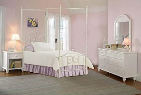 Westfield Canopy Bed - Full, Rails, Nightstand, Dresser, and Mirror