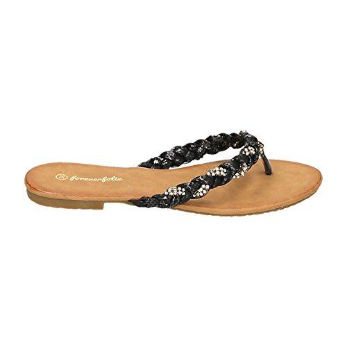 Jumex - Pantofole Donna , Nero (nero), 41