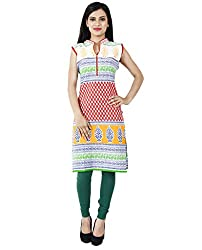Ambitione Blue Colored Chinese Collar Kurti_L