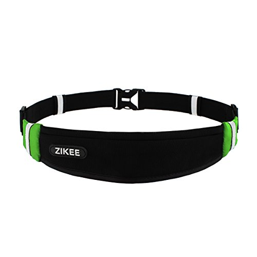 Zikee-Running-Belt-Waist-Pack-Race-Belt-Workout-Pouch-Fanny-Pack-for-Sports-Men-and-Women-Fits-Iphone-66s-6plus-Samsung-Galaxy-SlimLightweight-Suitable-for-Fitness-Jogging-Cycling-Black