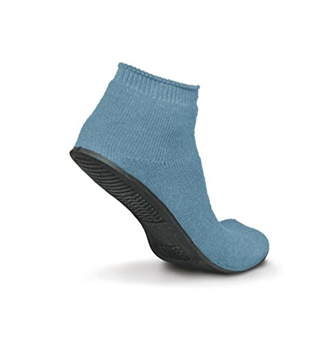Medline Industries MDT211220M Sure-Grip Terrycloth Slippers, Medium, Light Blue (Pack of 12)
