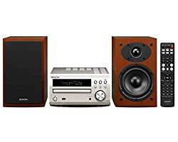Denon D-M40 (RCD-M40 Premium Silver + SC-M40 Cherry Wood) Ultimate Micro Component CD-Receiver System