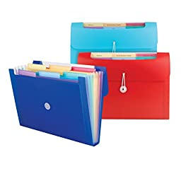 Smead Campus.org Step Index Organizer, 6 Pockets (Each Holds up to 50 Sheets), Flap and Cord Closure, Letter Size, Assorted Colors, 12 Pack (70900)