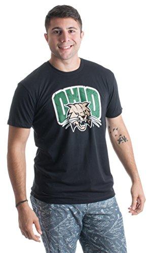 Ohio University | Ohio Bobcats Vintage Style Licensed Unisex T-shirt -Adult,L
