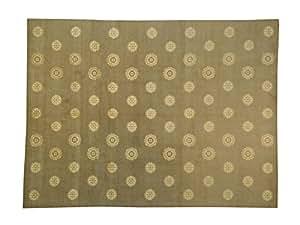 Amazon.com - 9'x12' Wool and Silk Modern Nepali Snowflakes Hand