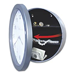 Embassy JB4985 Wall Clock With Hidden Safe