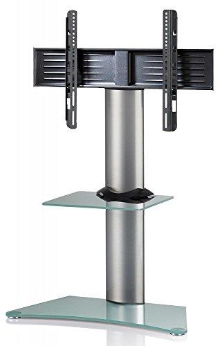 """VCM 17065 TV-Standfuss """"'Zental"""", TV-Rack Aus Aluminium mit Zwischenablage"""