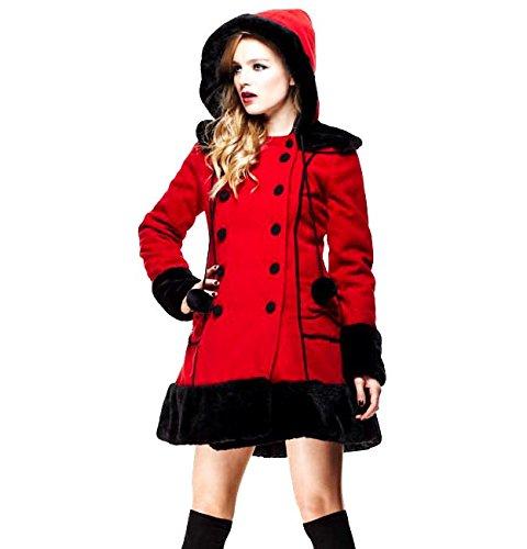HELL coniglietto rosso lungo invernale SARAH JANE appendiabiti in finta pelliccia tutte le misure