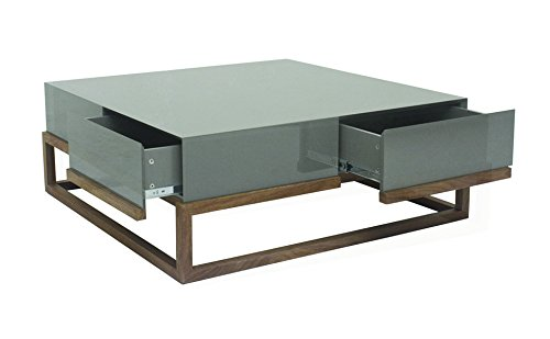 designement Taciana Tavolino laccato grigio 100x 100x 38cm