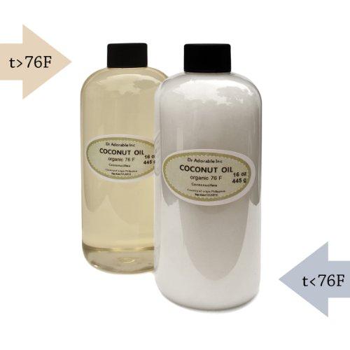 Organic Pure Coconut Oil 76 Degree 16 Oz