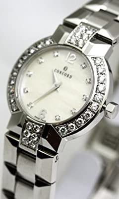 Concord La Scala Ladie's Diamond Markers DIAMOND Bezel and Lugs