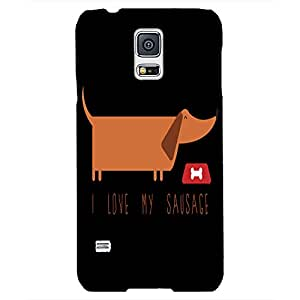 Back cover for Samsung Galaxy S5 I Love my Sausage