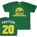 Seattle Super Sonics Gary Payton Throwback Majestic Kelly Green T Shirt