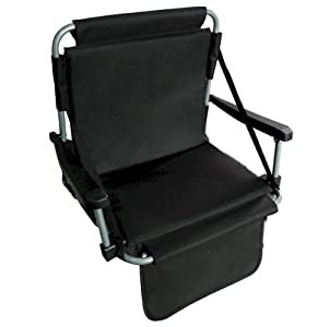 Stadium Chair With Back Black by Barton Outdoors