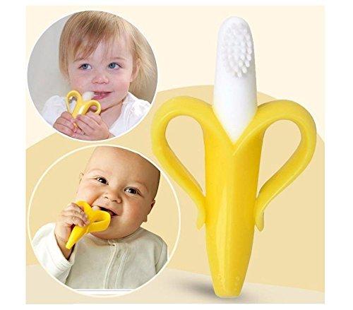 [Silicone Banana Toothbrush And Environmentally Safe Baby Teether Teething Ring] (Axolotl Costume)
