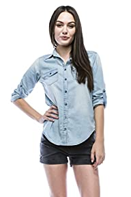 Noble U Chambray Button Down Denim Sh…