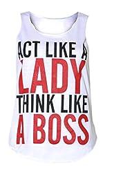 Women\'s Act Like A Racerback Vest Top