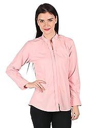 Mahikrite Woman's Pink Organic Cotton Shirt (Large)